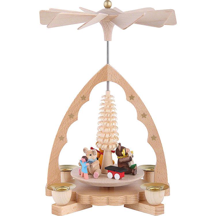 1 - Tier Pyramid  -  Bear Children  -  19cm / 7 inch