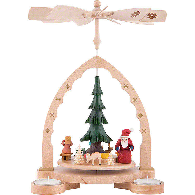 1 - Tier Pyramid  -  Christmas Forest Colored  -  27cm / 10.7 inch