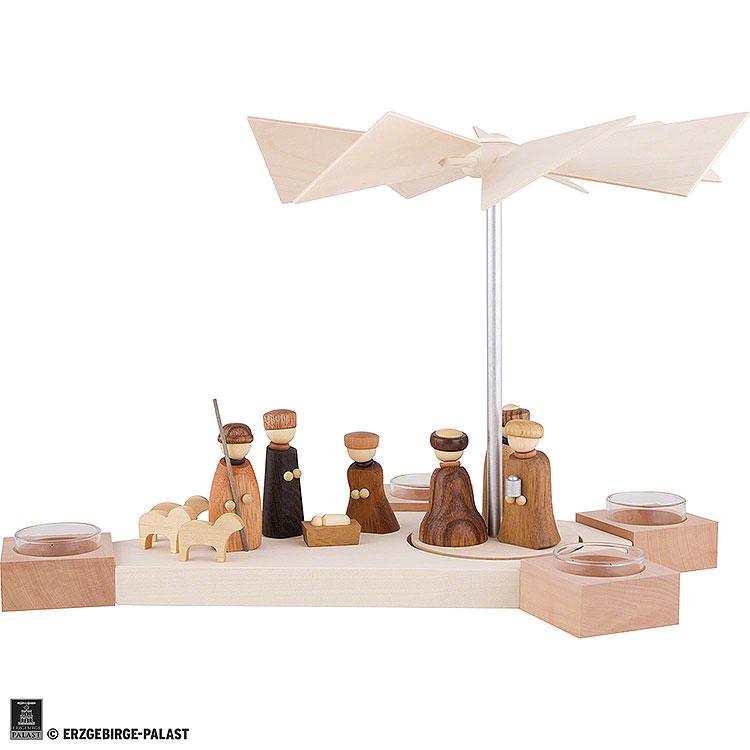 1 - Tier Pyramid Octogonum  -  Nativity  -  23cm / 9.1 inch