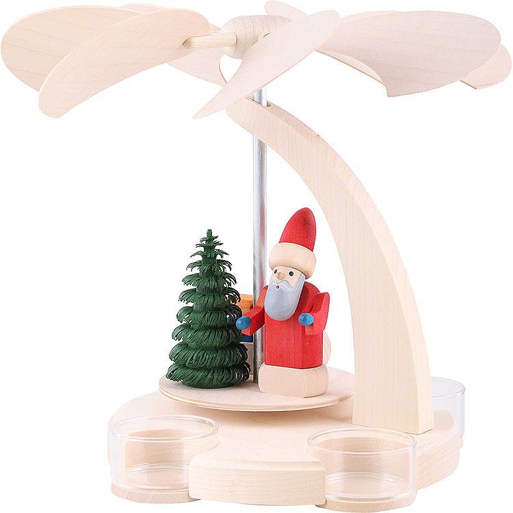 1 - stöckige Pyramide Weihnachtsmann mit Schlitten  -  18cm