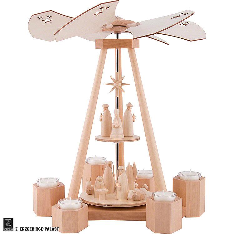 2 - Tier Pyramid Nativity  -  39cm / 15.4 inch