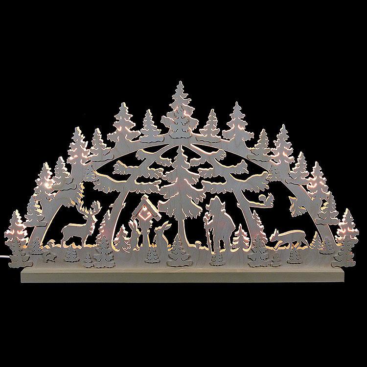 3D - Doppelschwibbogen Waldmotiv  -  72x40x5,5cm