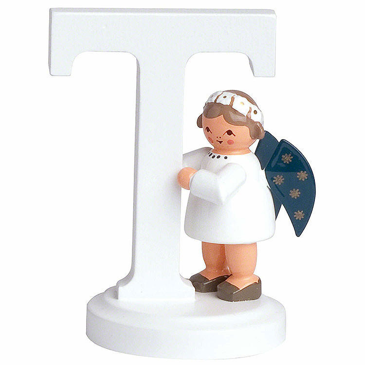 "Angel Letter ""T""  -  7cm / 2.8 inch"
