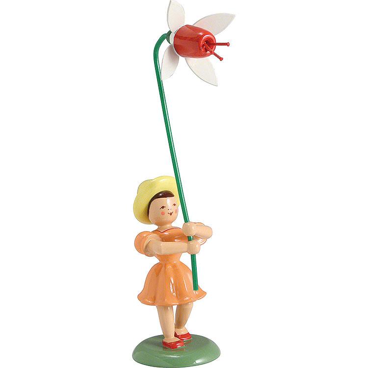 Blumenkind Fuchsie, farbig  -  12cm