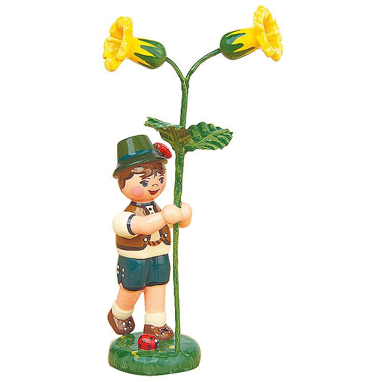 Blumenkind Junge mit Schlüsselblume  -  11cm