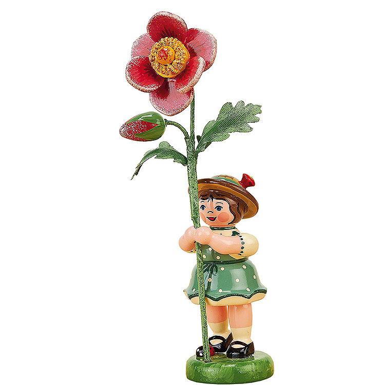 Blumenkind Mädchen mit Heckenrose  -  11cm