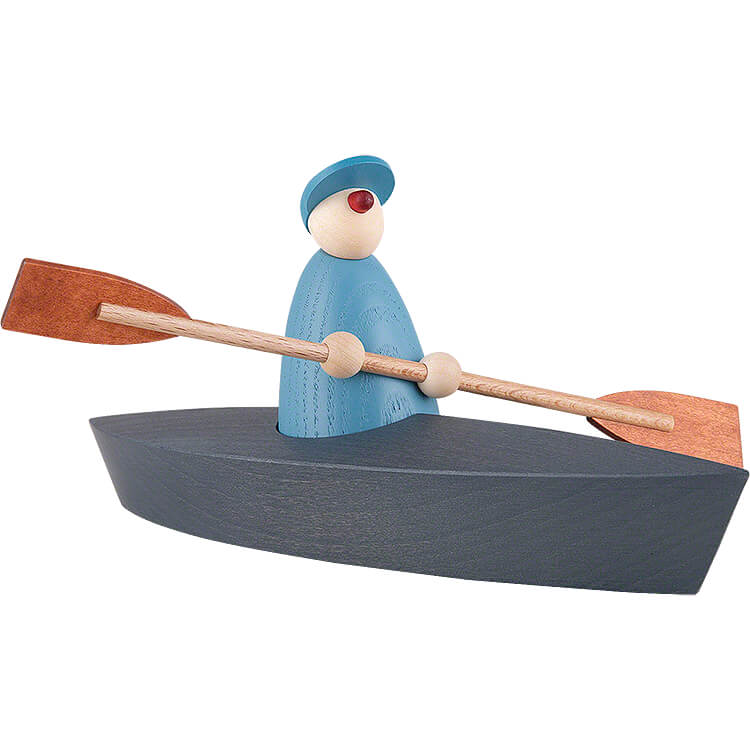 Boat Trip of One, Light Blue  -  9cm / 3.5 inch