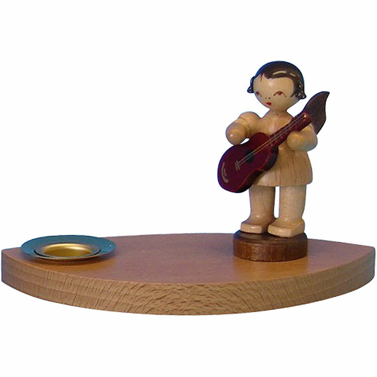 Candle Holder  -  Angel with Guitar  -  7cm / 2.8 inch
