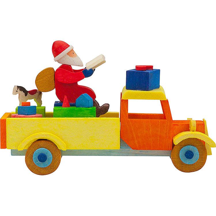 Christbaumschmuck Lastwagen Weihnachtsmann  -  7,5cm
