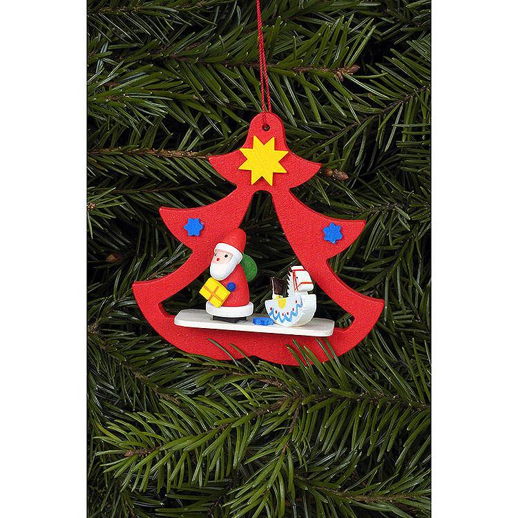 Christbaumschmuck Nikolaus im Baum  -  7,2x7,1cm