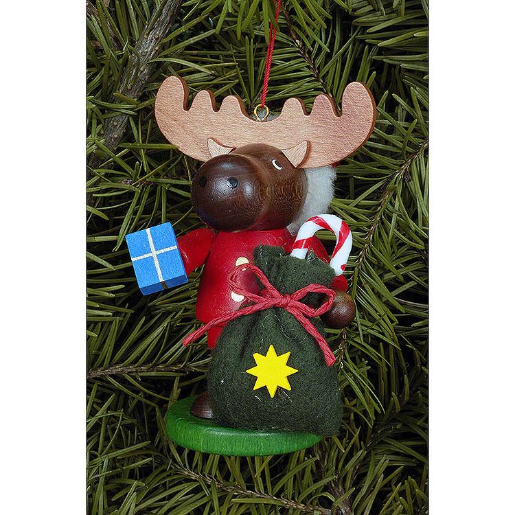 Christbaumschmuck Strolch Elch Weihnachtsmann  -  9,5cm