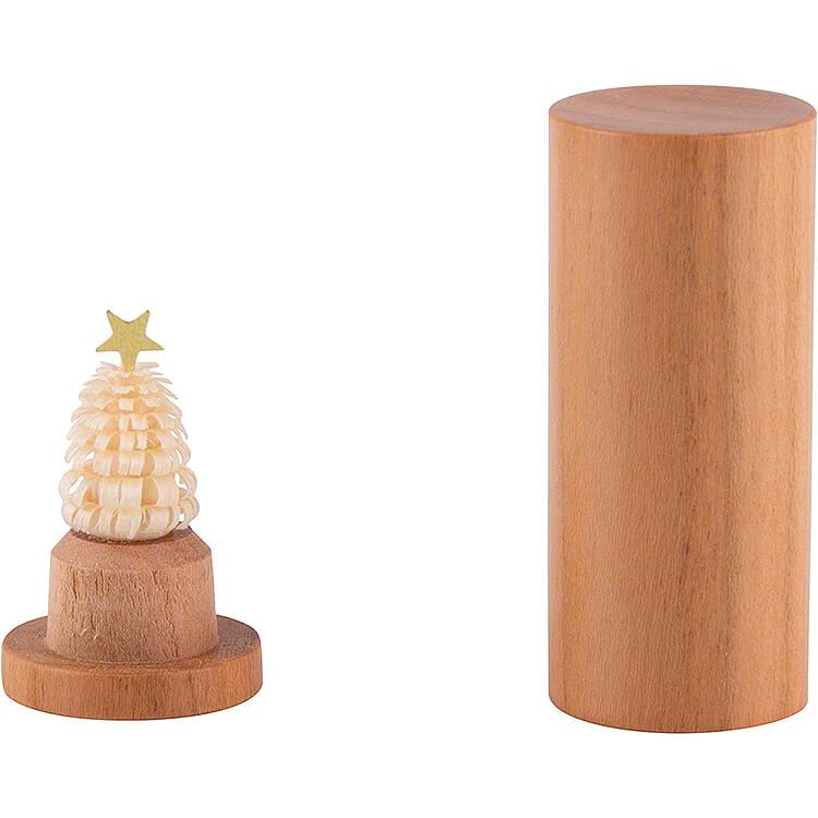 Der Weihnachtsbaum für die Hosentasche  -  Kirschholz  -  4,5cm