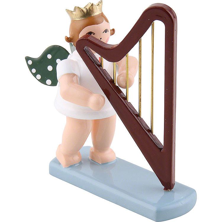 Engel mit Krone und Harfe  -  6,5cm