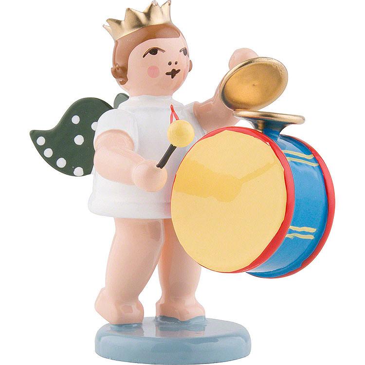 Engel mit Krone und großer Trommel mit Becken  -  6,5cm