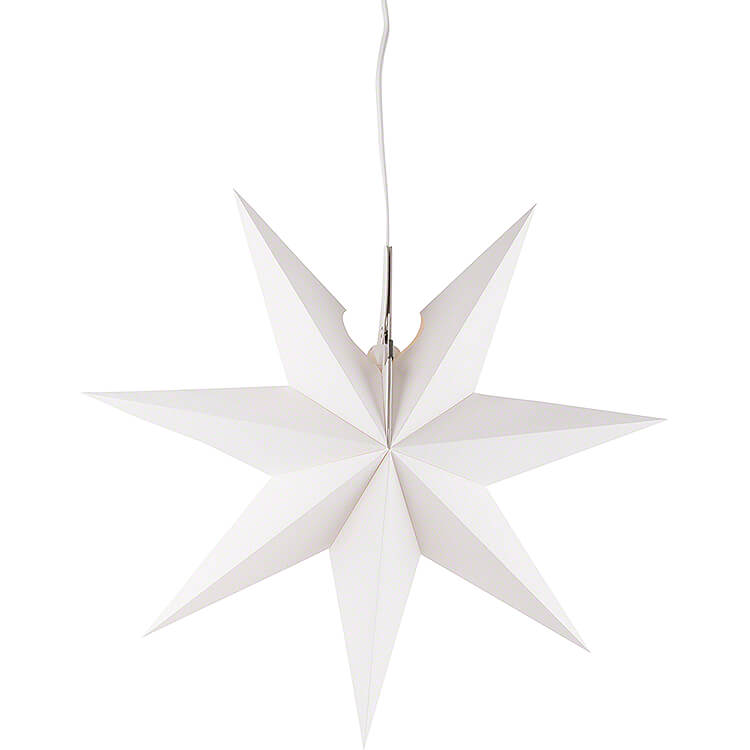 Erzgebirgischer Fensterstern weiß  -  41cm