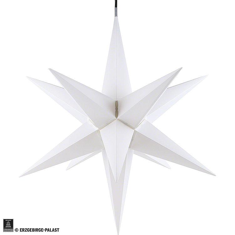Haßlauer Weihnachtsstern für Innen weiß inkl. Beleuchtung  -  65cm