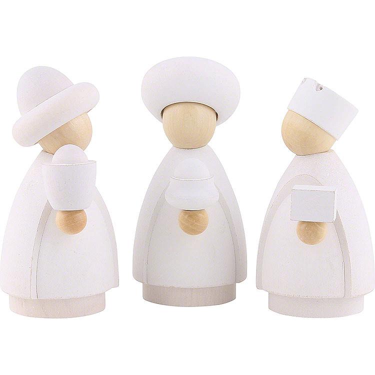 Heilige Drei Könige weiß/natur  -  8,5cm