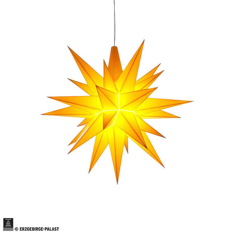 Herrnhuter Stern A1e gelb Kunststoff  -  13cm