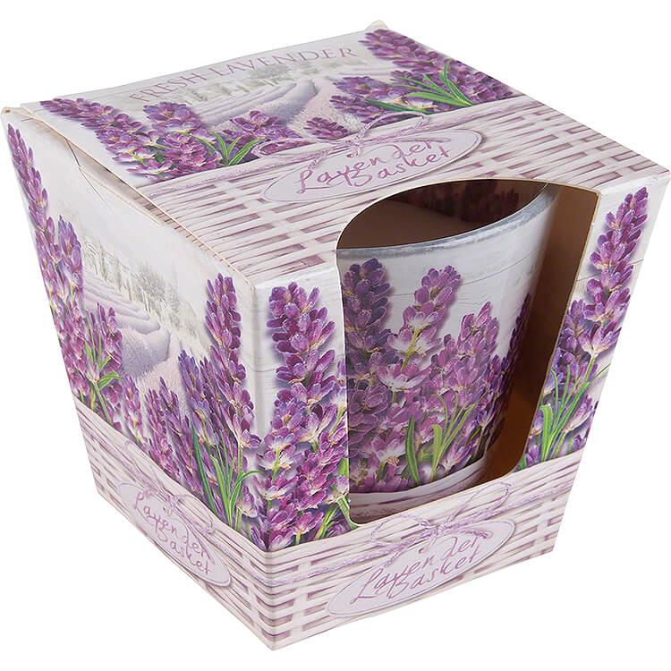 JEKA - Duftkerze  -  Lavender Basket  -  Fresh Lavender  -  8,1cm
