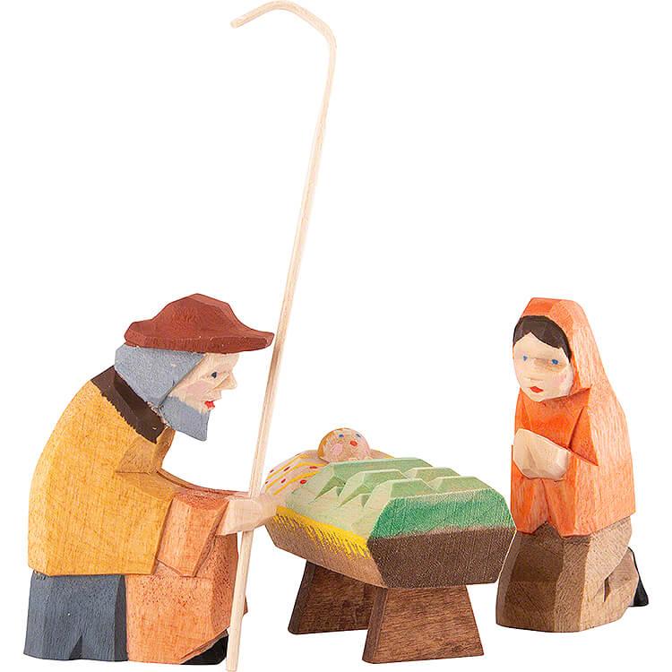 Krippenfiguren Heilige Familie 3 - teilig  -  8cm