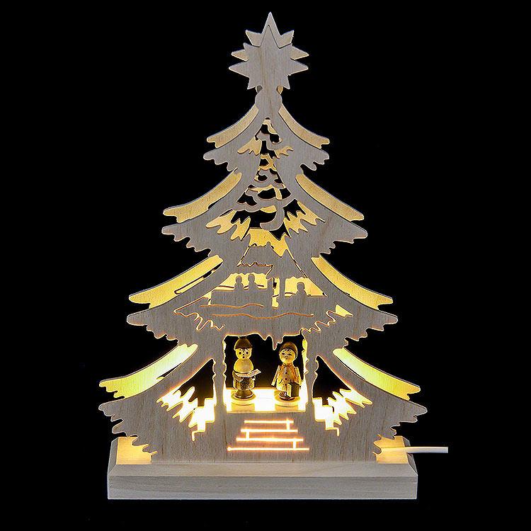 Lichterspitze Mini - Baum Weihnachtssänger  -  LED  - 23,5x15,5x4,5cm