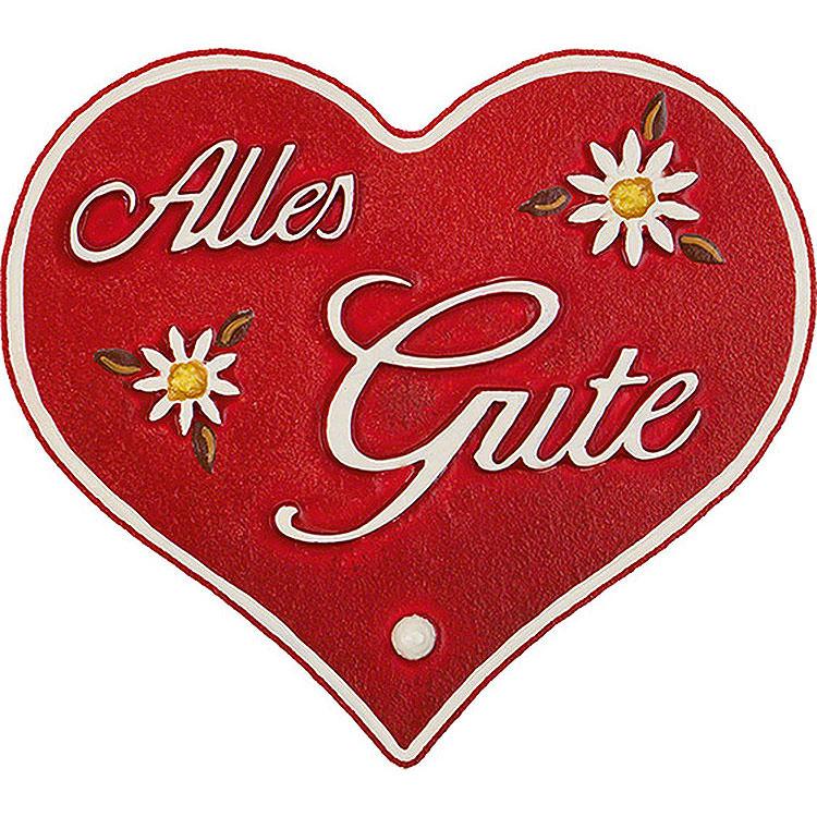 "Magnetpin - Herz ""Alles Gute""  -  7cm"