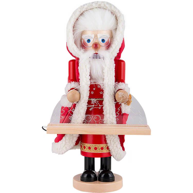 Nussknacker Deutscher Weihnachtsmann mit Schwibbogen  -  44cm