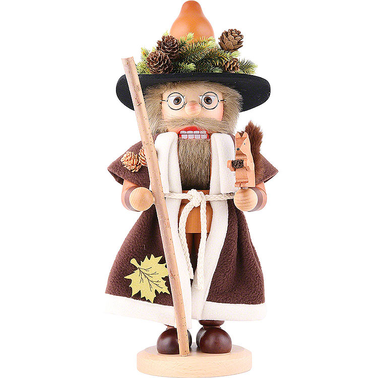 Nutcracker  -  Forest Man with Squirrel Natural  -  41,5cm / 16.3 inch