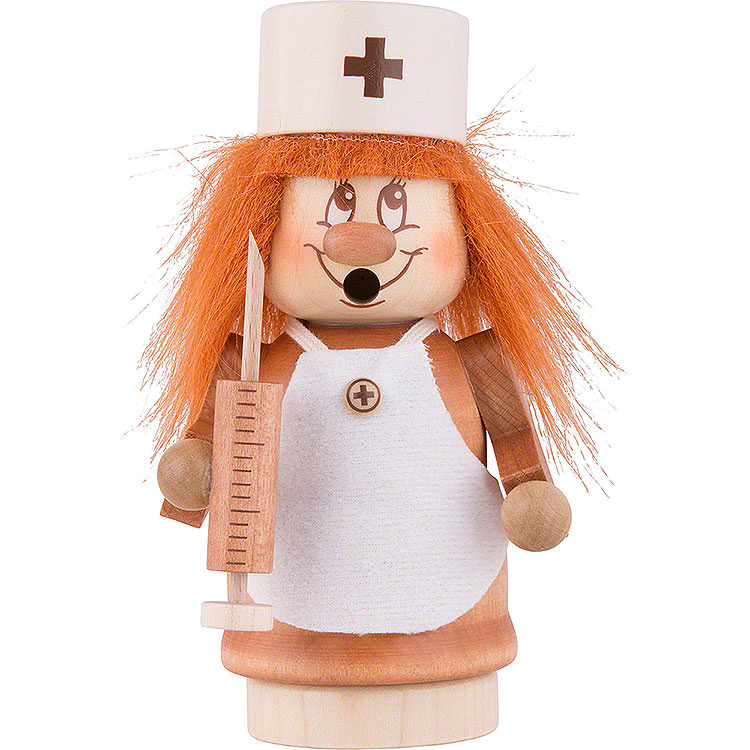 Räuchermännchen Miniwichtel Krankenschwester  -  13,5cm