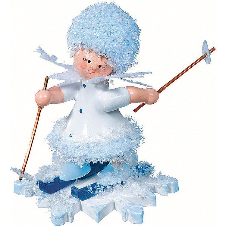 Schneeflöckchen mit Ski  -  5cm