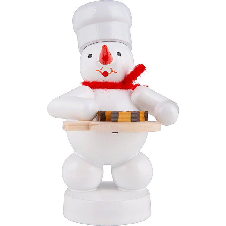 Schneemann Bäcker mit Nußecken  -  8cm