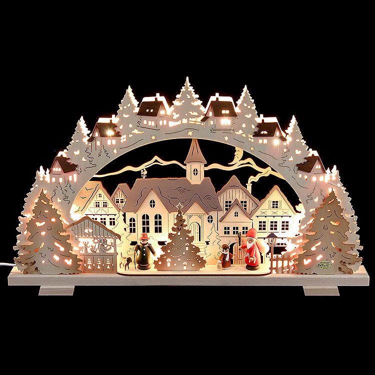 Schwibbogen Adventszeit exklusiv  -  53x31x4,5cm