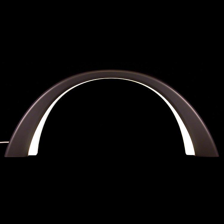 Schwibbogen Linde anthrazit, mit elektrischer Innenbeleuchtung  -  55x23,5cm