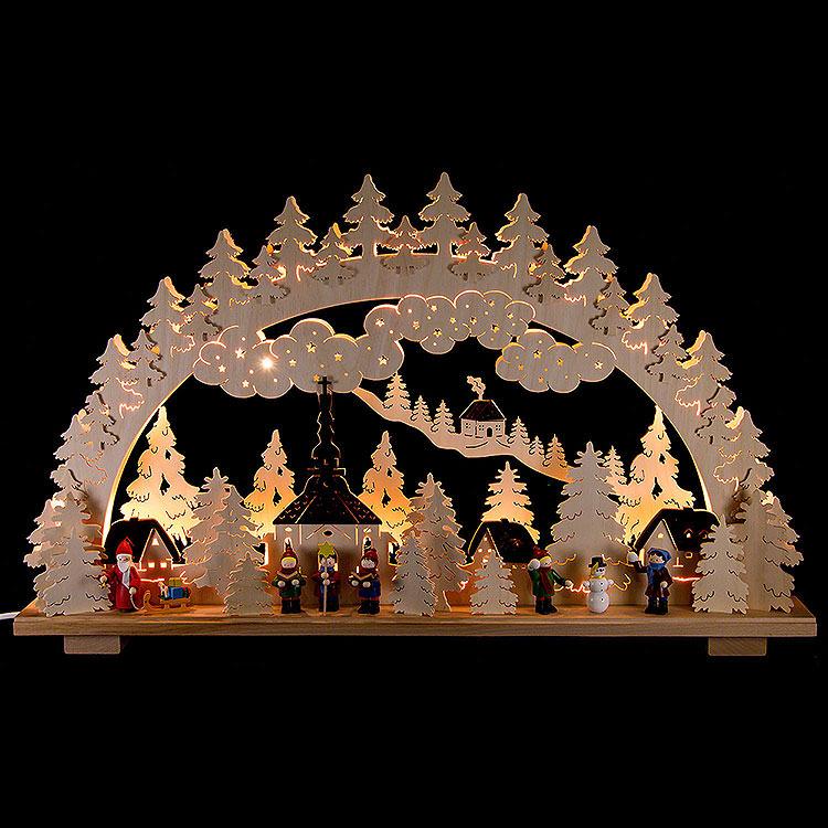 Schwibbogen Weihnachten in Seiffen  -  70x45cm