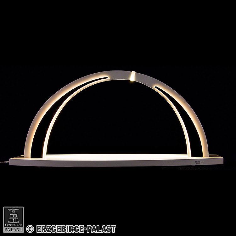 Schwibbogen modern wood WHITE LINE  -  ohne Bestückung  -  57x26cm