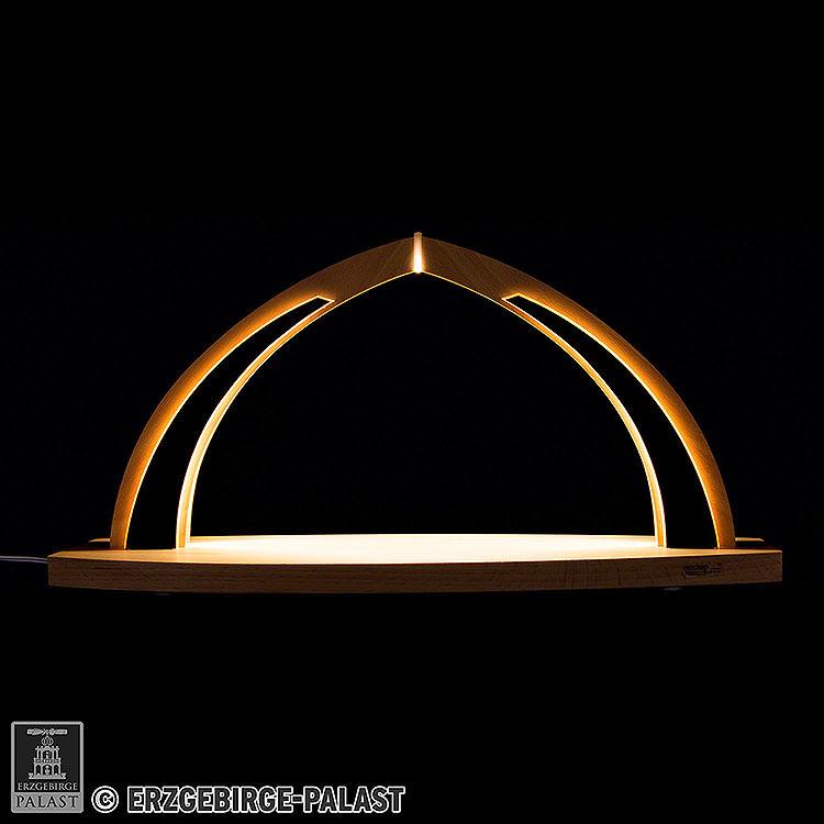 Schwibbogen modern wood  -  ohne Bestückung  -  41x20cm