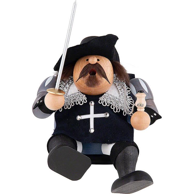 Smoker  -  Musketeer Porthos  -  Edge Stool  -  16cm / 6 inch