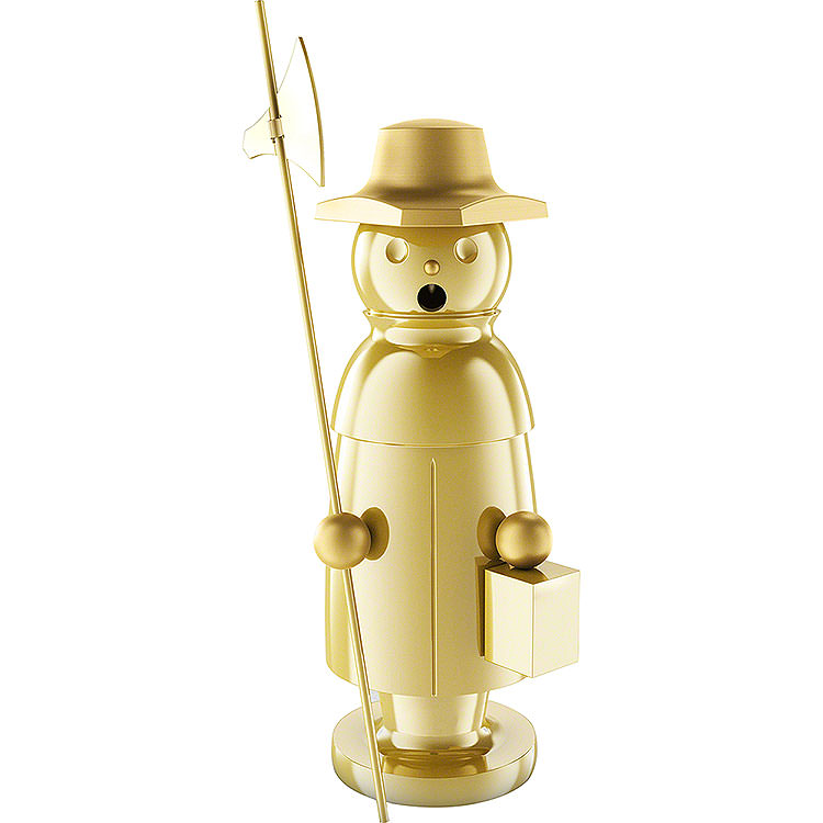 """Smoker  -  """"The Watchman""""  -  Stainless Steel, Gold - Plated  -  15cm / 5.9 inch"""