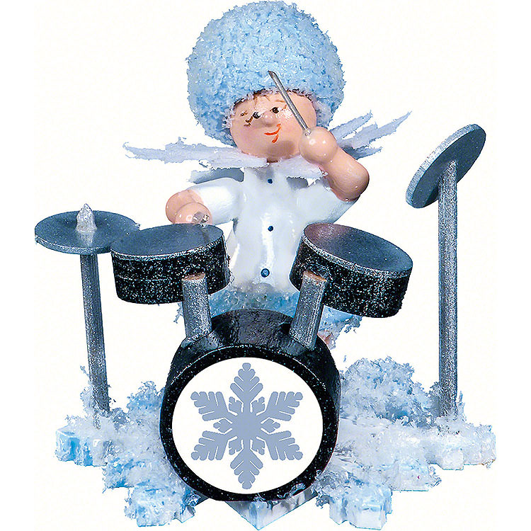 Snowflake with Drum Set  -  5cm / 2 inch
