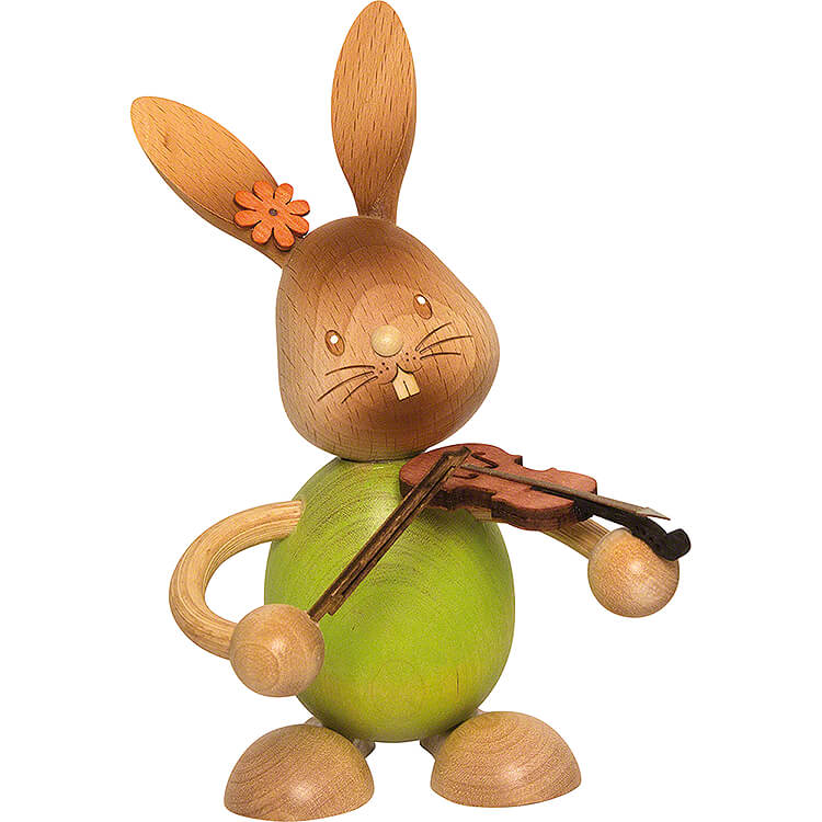 Snubby Bunny with Violin  -  12cm / 4.7 inch