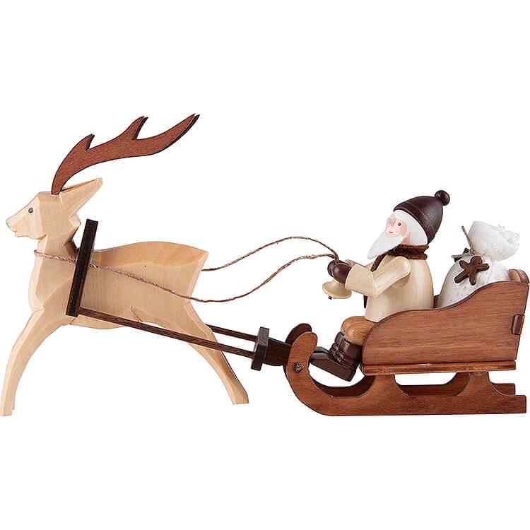 Thiel - Figur Nikolaus im Rentierschlitten  -  natur  -  8,5cm
