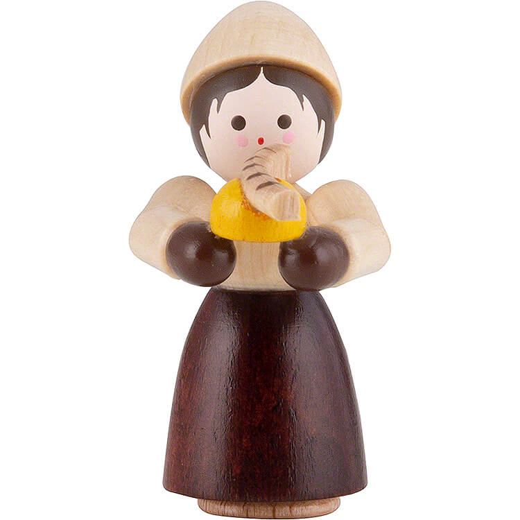 Thiel Figurine  -  Girl with Bratwurst  -  natural  -  4cm / 1.6 inch