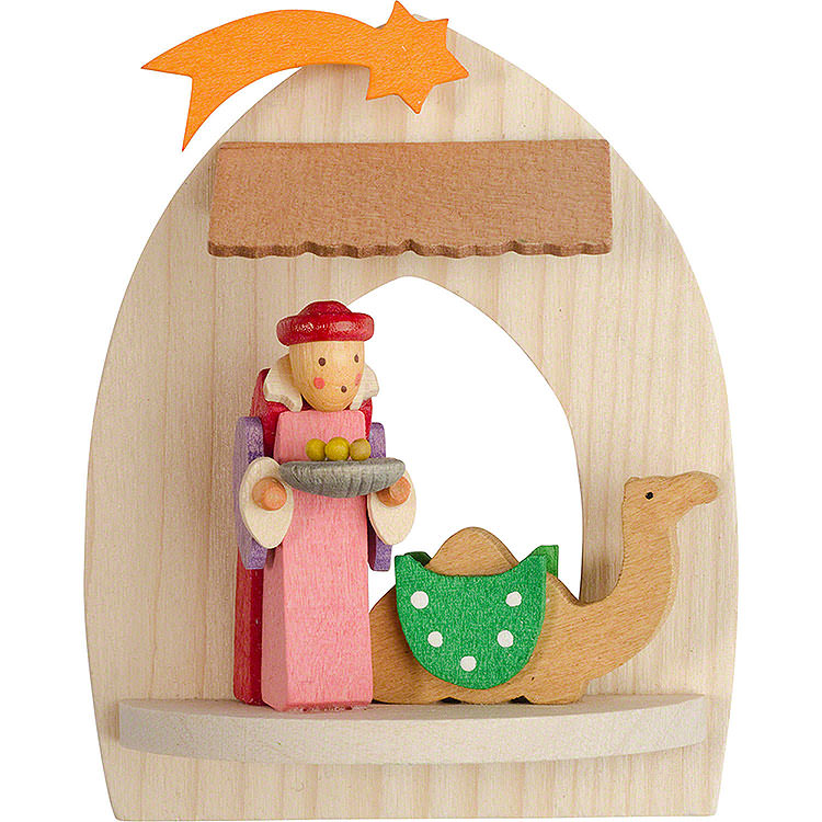 Tree Ornament  -  Nativity with Balthasar, Natural  -  8,5cm / 3.3 inch