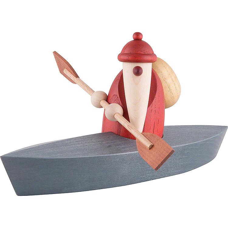 Weihnachtsmann im Paddelboot  -  9cm