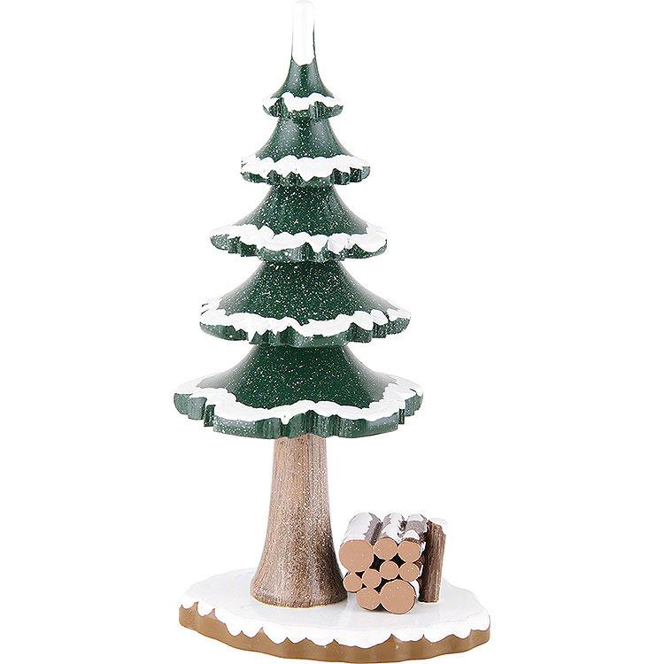 Winterkinder großer Winterbaum  -  17cm