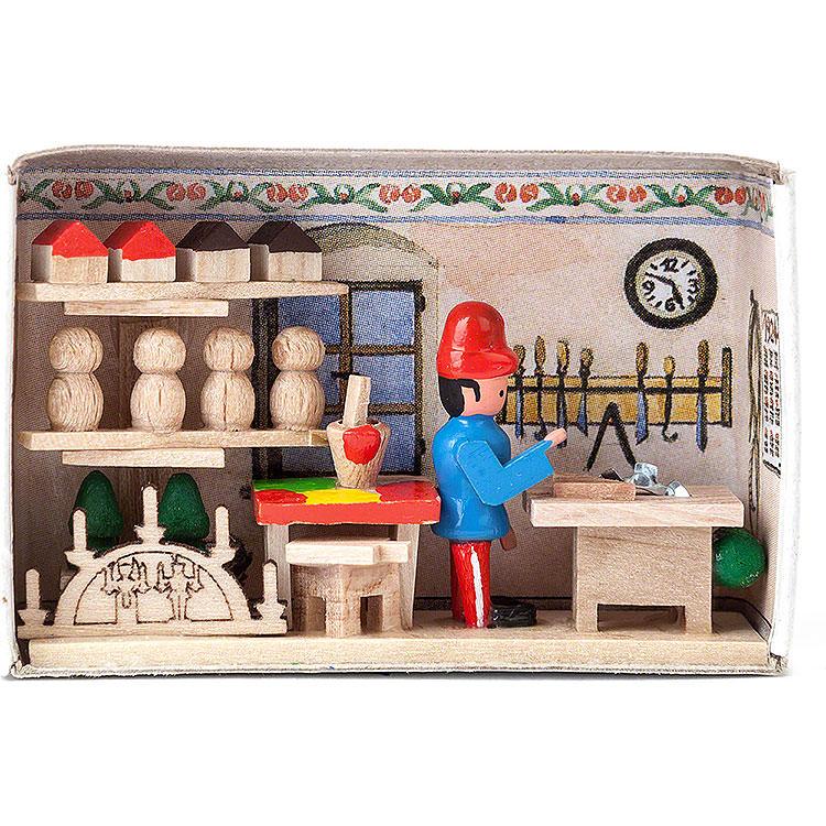 Zündholzschachtel Spielzeugmacher  -  4cm