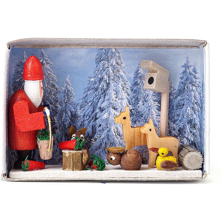 Zündholzschachtel Weihnacht im Winterwald  -  4cm