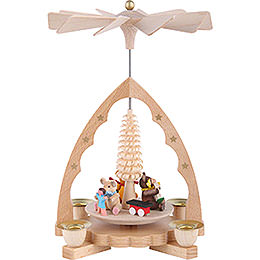 1 - Tier Pyramid  -  Bear Children  -  19cm / 7 inch