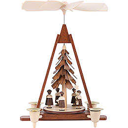 1 - Tier Pyramid  -  Carolers  -  29cm / 11 inch
