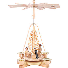 1 - Tier Pyramid  -  Nativity Scene  -  25cm / 9.8 inch
